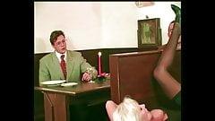Blonde Busty Hot MILF Helen Duval Fuck, DP, Facials, 3 Boys