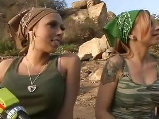 Combat zone and adult Lesbian combat