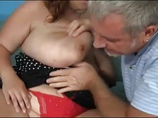 Giant boobs blowjobs Mom with mega-giant boobs old man