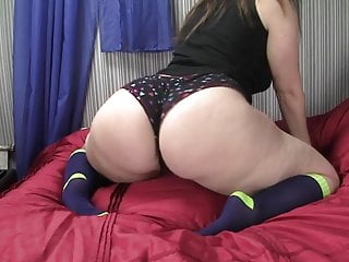Knit sock for penis Shakin with socks ass