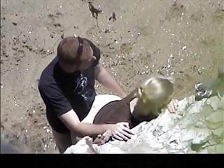 Wyatt rock bottom Estrangeiro - hidden cam couple, big ass against the rocks