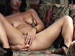 Fucking live watch Milf home alone masturbating in living room watching a porno