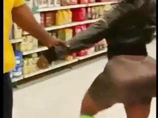 Lesbian grabbing ass Fat ass in store getting grabbed
