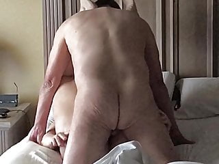 Pound my wifes ass Pounding wifes ass with her feet over my head