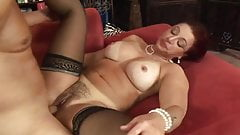 Sexy Redhead Hairy Mature With Big Tits Fucks And Creampied