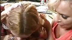 Mother and daughter's friend fuck boy