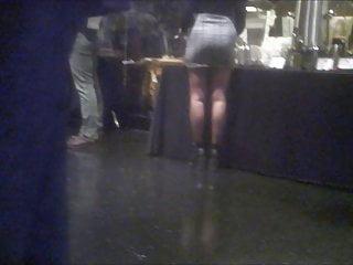 Asian girl short skirt Nice legs in short skirt