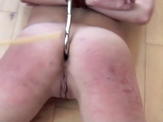Hogtied pussy spanked Casey anal hook spanking