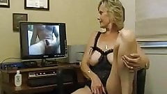 Check My MILF granny in crotchless lingerie