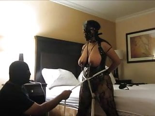 Voyeur rtp clamped Indian slave wife wild orgasms, clamps, and tit slapping