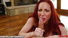 Throated Hard Facefuck Throatfuck with redhead Kelly Devine