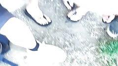 Candid friend sexy legs and feet part 2 upskirt