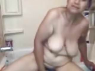 Bad ass hispanic pussy - Chubby hispanic milf shoves dildo deep in her pussy