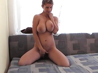 Self cunnilingus video - Young girl, big tits self-made video