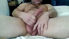 Str8 Daddy with Big Cock and Balls cums on cam #51