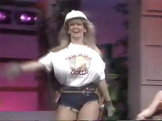 Vintage video tv Fake huge tits in tv show