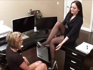 Office foot fetish - Office foot fetish lesbian