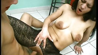 She just pisses on his cock after extreme fuck