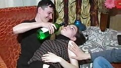 Russian bareback bisexual threesome