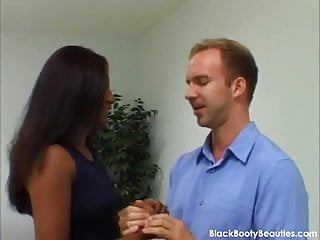 Hairly black pussy - Tight wet black pussy in an interracial sex video