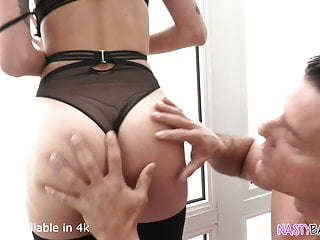 Gracie glamm done anal - Sexy lingerie young girl squirting while done in anal