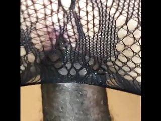 White skin around vagina White sluts gets a bbc creampie in her vagina