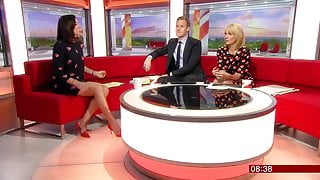 Sally Nugent in a Very Short Dress