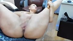 Russian mature ass fuck. Dildo
