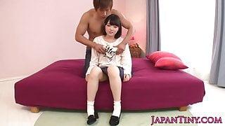 Petite busty japanese Iori Kanata facialized
