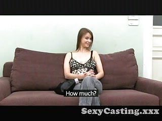 Shy slut girl casting Casting shy girl, hairy bush