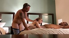 White wife shared with big black cock