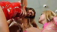 Kianna Dior Big Tits in Red Latex