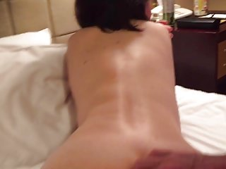 Pussy doggie Japanese with glasses moans as i ride her wet pussy doggie