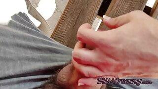Teacher Jerks off a Student's Cock in a public park – Risky Sex
