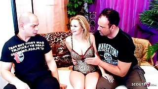 Virgin Stepson catch StepDad with Cougar and gets First Fuck