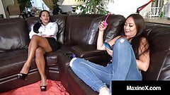 Asian Super Fuckstar Maxine X Squirts With Bi Nyssa Nevers!