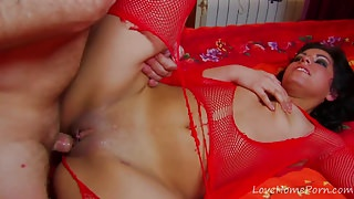 Racy Babe In Red Fishnets Gets Pounded Hard.mp4