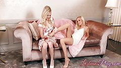 Hot babe lesbian friends sharing their pussy licking passion