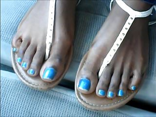 Footjob angels - Angel johnson blue toes