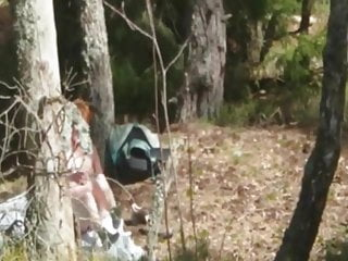 Horny Redhead Swiss Wife Outdoor Strip And Fuck