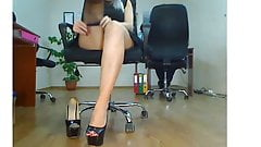 Putting Stockings In The Office 4