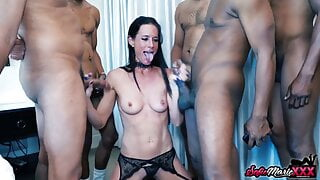 Kinky MILF Sofie Marie Double Penetrated In Interracial Orgy