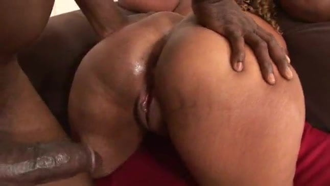 black bbw anal threesome