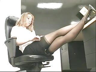 Young perky tits navarre Young perky brunette coworker plays with a big toy at the office