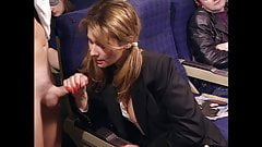 Draghixa public blowjob on a plane, upscaled to 4K
