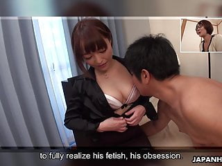 Japanese cock gay - Japanese cock teaser, yui ayana is gently sniffing dick, unc