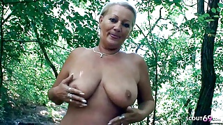 Curvy 73yr old Granny, POV Scandal Sex on way home with Young Guy
