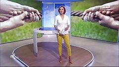 Eva-Maria Lemke in Hochwasserhose und High Heels