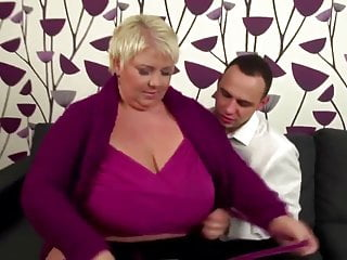 BBW-Young Guy Fucks Three BBW Mature MILFs