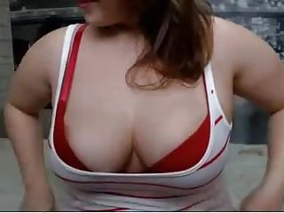 Busty non Busty babe playing with big boobs non-nude